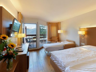 Helvetia Intergolf Appart Hôtel Crans Montana Chambre familiale