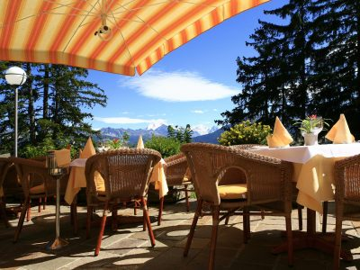 Helvetia Intergolf Appart Hôtel Crans Montana Terrasse